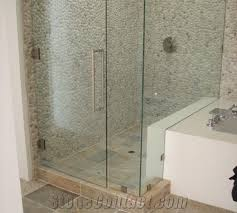 pebble stone mosaic wall bathroom shower design from united states
