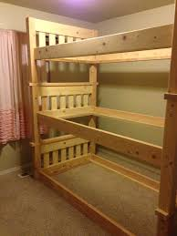 Plans For Building Triple Bunk Beds by Ana White Simple Bunk Bed Triple Bunk Diy Projects