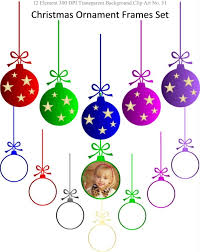 instant ornament frames clipart set for