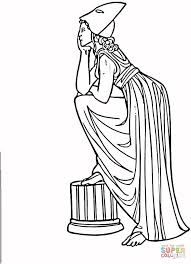 greek ancient woman coloring page free printable coloring pages
