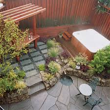 Ideas For Backyard Patio by Small Garden Secrets Sunset