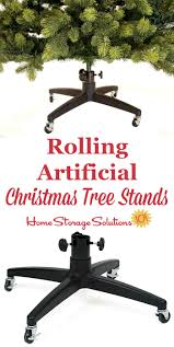 Storage Containers For Artificial Christmas Trees Rolling Artificial Christmas Tree Stands Make Storage A Breeze