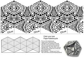 make your own kaleidocycle and color origami template free