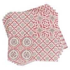 lanterne de sol en papier 20 serviettes en papier motifs carreaux de ciment 33x33 authentic