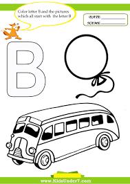 Letter Recognition Worksheets Kids Under 7 Letter B Worksheets And Coloring Pages