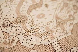 Super Mario World Map by This Is A Map Of Super Mario World Laser Etched Onto A Piece Of