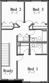 upper floor plan triplex plans with basement row house plans open floor plan