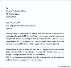 proof of employment letter for visa letter idea 2018