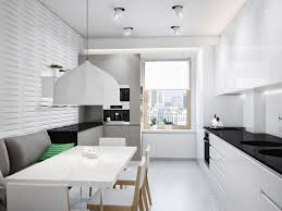 Gloss White Kitchen Cabinets Kitchen Briliant Modern White Clean Kitchen Decoration With