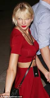 Big Breast Memes - taylor swift flaunts fuller chest in clingy red crop top after
