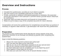 30 hr questionnaires templates hr templates free u0026 premium
