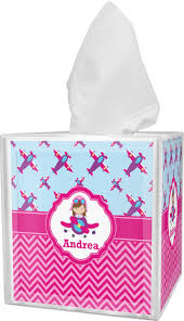 airplane theme for girls tissue box cover personalized baby