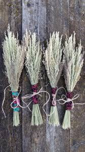 boho rustic bouquet dried flowers grasses bunch natural wild