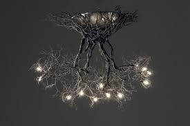 Pewter Ceiling Lights Roots Medium Handmade Ceiling Light Made Of Pewter Wires 7