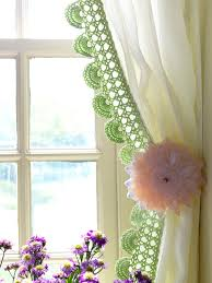 Crochet Valance Curtains Personality Kitchens Styling Crochet Kitchen Curtains And Egg