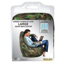 bean bag factory large bean bag green camouflage cover walmart com