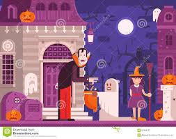 kids halloween background images trick or treat kids halloween background stock vector image