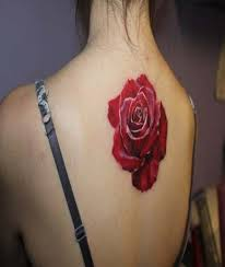 24 red rose tattoo images pictures and ideas
