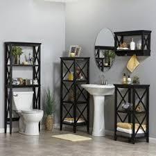 Bathroom Spacesaver Cabinet by Black Bathroom Space Saver Over Toilet Foter
