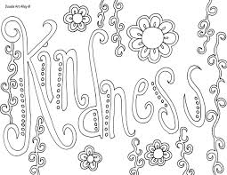 quotes with flower borders coloring pages for girls not colored