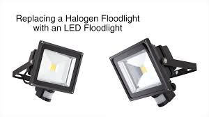 Halogen Outdoor Flood Light Fixture by How To Replace A Halogen Floodlight With An Led Floodlight Youtube
