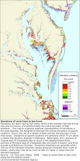 Chesapeake Bay Map More Sea Level Rise Maps For Maryland
