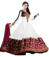 g fashion white georgette dress material buy g fashion white