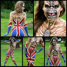 Iron Maiden Memes - iron maiden body paint pretty cool imgur