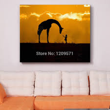 iarts print add hand painted painting animal giraffe and little