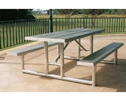 Commercial Picnic Tables And Benches Hpt Series Heavy Duty Picnic Table Frame Commercial Site Furnishings