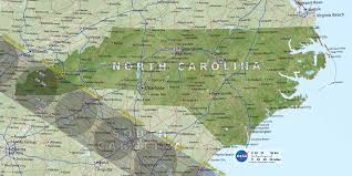 North Carolina State Map by Eclipse Maps Total Solar Eclipse 2017