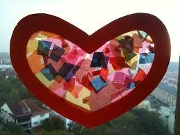 preschool crafts for kids valentine u0027s day heart sun catcher craft