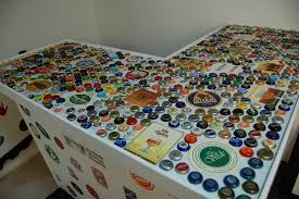 Homemade Bar Top Bottle Cap Bar Top Diy Album On Imgur