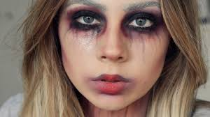 vampire doll scary halloween makeup look youtube