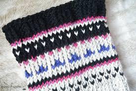 alpine heights knit fair isle cowl in a stitch
