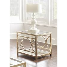 Silver Sofa Table Steve Silver Olympia Square Glass Top End Table In Gold Chrome