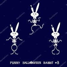 dancing halloween skeleton background cute and funny skeleton rabbit in different poses activity dance