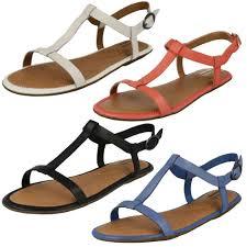 ladies clarks strap sandals 039 risi hop 039 66509925