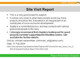 site visit report template informal school for tribal children in khadkee gujarat primary