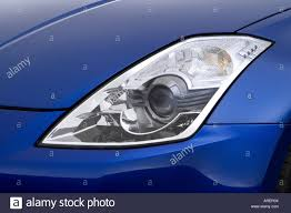 nissan headlights 2006 nissan 350z grand touring in blue headlight stock photo
