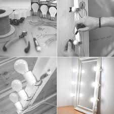 How To Make A Makeup Vanity Mirror Homemade Lighted Makeup Mirror For Use In The Studio By Lars