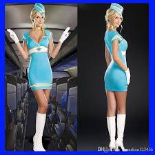 Flight Attendant Halloween Costumes Flight Attendant Cosplay Cosplay Costume Female Pilots Sky Blue