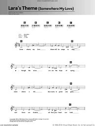 jarre somewhere my love lara u0027s theme sheet music for piano