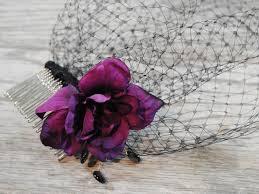 funeral veil black funeral veil purple mourning veil veil
