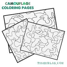 camouflage coloring pages printable tinkerlab