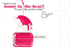 essie haute in the heat free shipping at nail polish canada