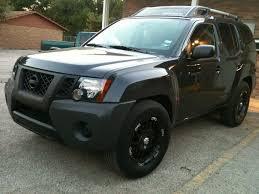 black nissan pathfinder 2005 murdered out flat black customizations xterra pinterest