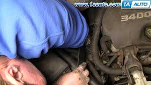 how to install replace engine serpentine belt chevy venture