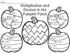 fall multiplication worksheets worksheets harder color by number