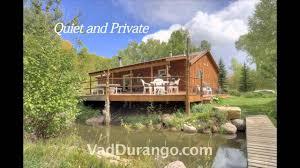 riverside cabin vacation rental near durango colorado youtube